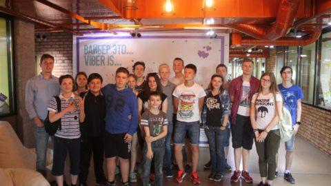 Сегодня наши юные стартаперы посетили с экскурсией компанию Viber